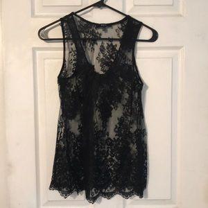 Express black lace tank